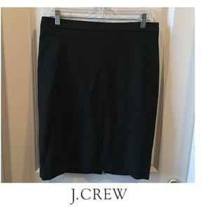 J. Crew Black Bi-Stretch Wool Pencil Skirt